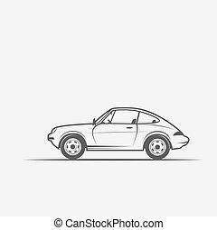 汽車, 圖像, grayscale
