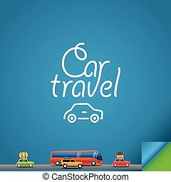 汽車, 旅行, 設計, concept., 樣板