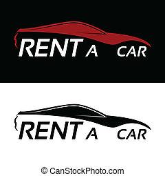 汽車, 租金, 標識語