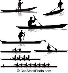 河, 各種各樣, 划船者