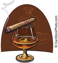 法國白蘭地酒, 雪茄