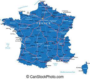 法國, 地圖