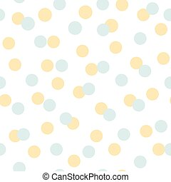 波爾卡舞, 夏天, 背景。, 圖案, geomteric, 矢量, 黃色, 點, 陽光普照, seamless