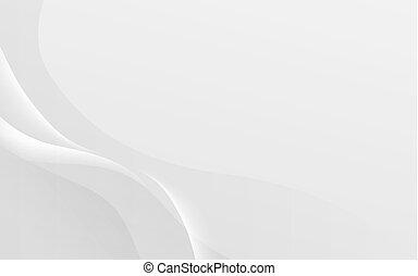 波狀, 摘要, 光滑, 插圖, 背景。, 矢量, 白色