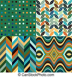 波狀, 集合, 摘要, 背景, seamless, 矢量, retro