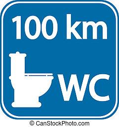 洗手間, roadsign
