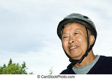 活躍的老年人, asian人