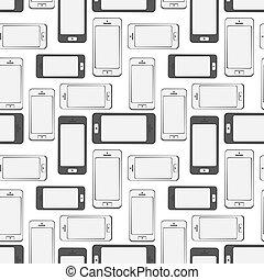 流動, 圖案, seamless, 背景, smartphone, 設備