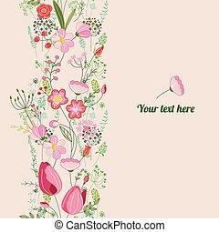 浪漫, 春天, template., 植物, posters., 設計, 通告, 明信片