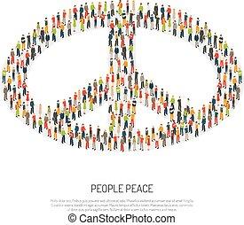 海報, 和平, 人們