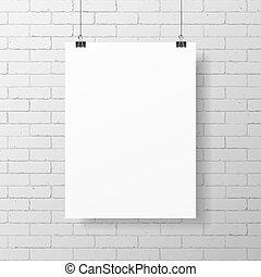 海報, 白色, 空白