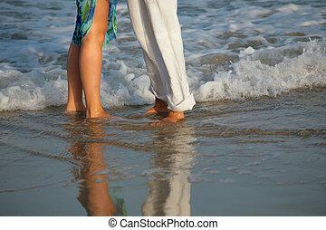 海灘, 夫婦