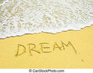 海灘, 寫話, 夢想, 沙