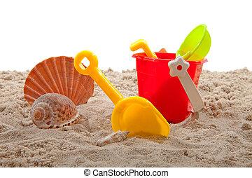 海灘, plastc, 玩具