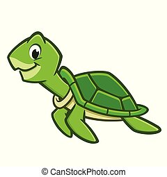 海龜, 卡通, 海