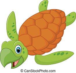 海龜, 微笑, 卡通