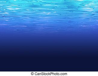 海, 清楚, -, 深水, 背景