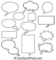 消息, 對話, balloon
