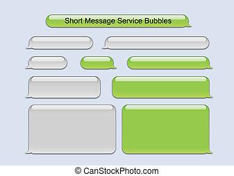 消息, 短, 氣泡, 服務