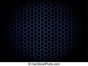 深藍, 摘要, 六角形, 背景