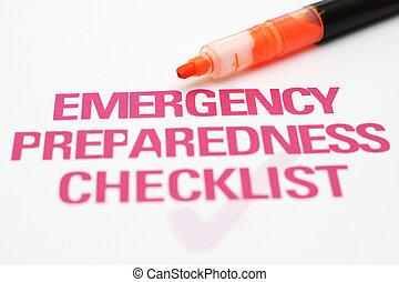 清單, 緊急事件