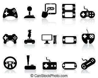 游戲, 集合, 影像, 操縱杆, 圖象