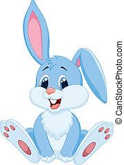 漂亮, 卡通, 兔子