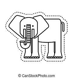 漂亮, 大象, 字, 圖象