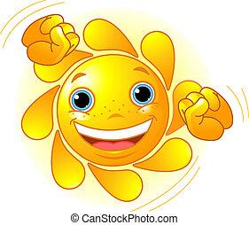 漂亮, 太陽, 跳舞