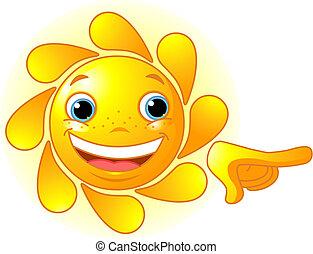 漂亮, 指, 太陽