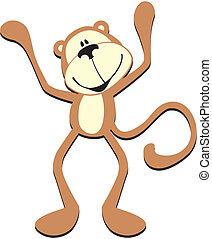 漂亮, 猴子, 愉快