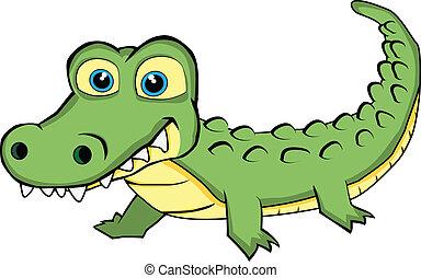 漂亮, 看, 鱷魚