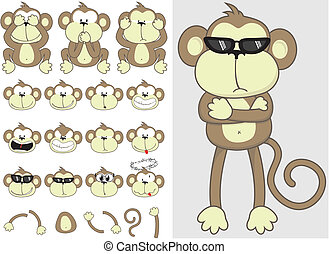 漂亮, 集合, 猴子