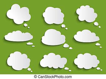 演說泡, 雲, 彙整