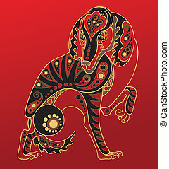 漢語, 狗, horoscope., 年