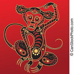 漢語, 猴子, horoscope., 年