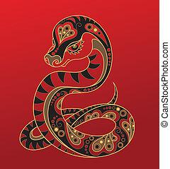漢語, 蛇, horoscope., 年
