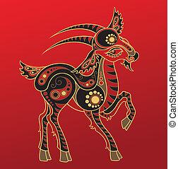 漢語, goat, horoscope., 年