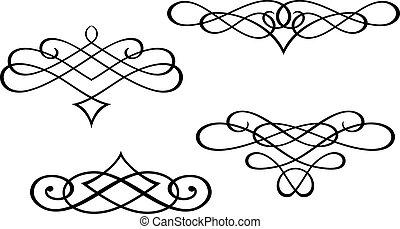 漩渦, 交織字母, 元素