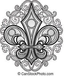 漩渦, 符號, 裝飾品, 盾