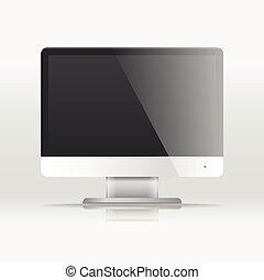 漿糊, 你, 現代, template., lcd, 屏幕, 內容, 監控