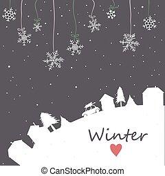 濾網, 天空, 背景, 降雪, 夜晚