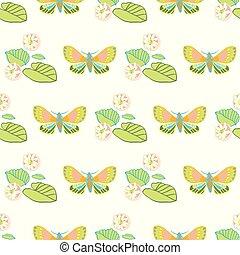 火烈鳥, 外來, pattern., 叢林, 幾何學