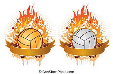 火焰, 排球