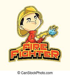 火, 標識語, 戰士, 插圖