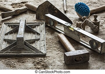 灰漿, 泥瓦工, 建設, 工具, 水泥
