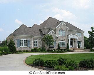 灰色, 磚房子