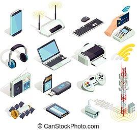 無線, 圖象, 集合, 設備, 等量, 技術