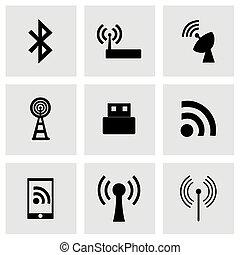 無線, 矢量, 集合, 圖象