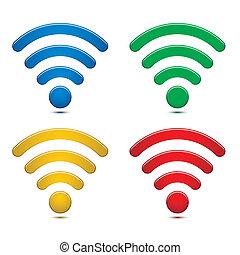無線, 符號, 集合, 网絡